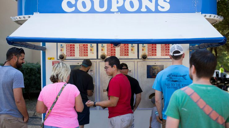 First stop at every State Fair of Texas trip: the coupon booth.
