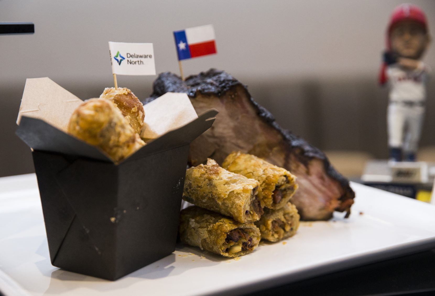 The Brisket egg rolls were created after a Rangers fan in Utah sent in the recipe.