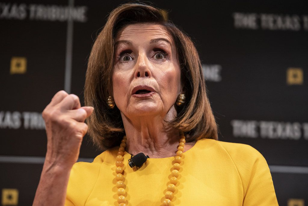 House Speaker Nancy Pelosi appeared late Saturday at the Texas Tribune Festival in Austin at the end of a dizzying, fast-changing week of political bombshells.