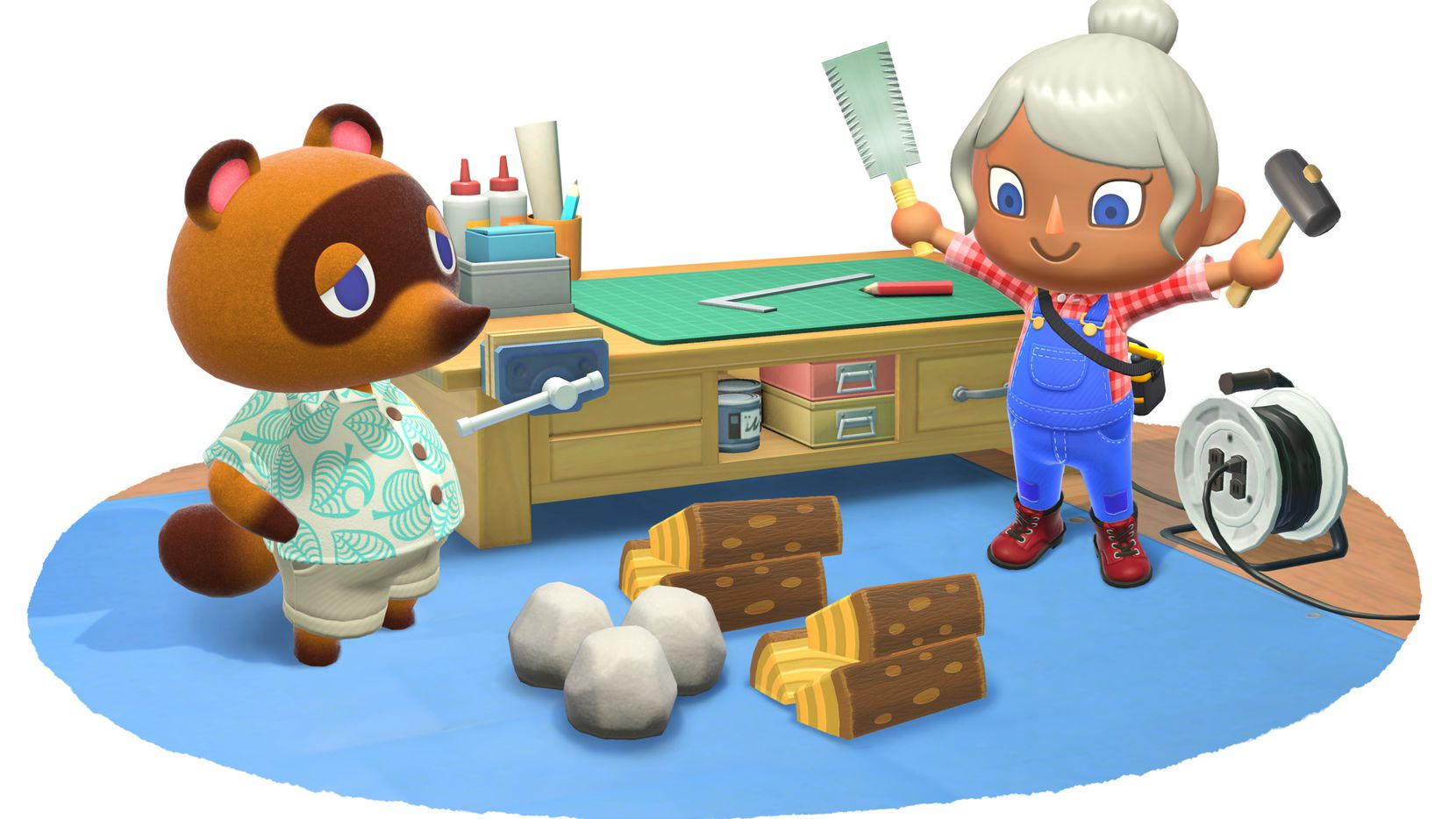 Artwork from 'Animal Crossing: New Horizons' on the Nintendo Switch.