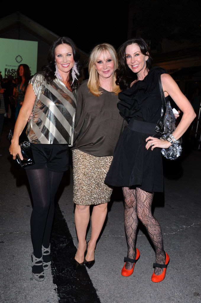 """Marie Reyes, right, is the """"friend"""" on 'Real Housewives of Dallas.' (She's pictured here at Fashion Night Out in Highland Park in 2011.) Reyes is pals with LeeAnne Locken, left, who is one of the five main cast members on the show."""