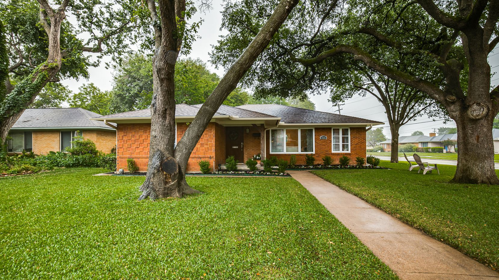 The two-bedroom home at 4506 Saint Landry Drive in Lakewood features numerous recent updates.