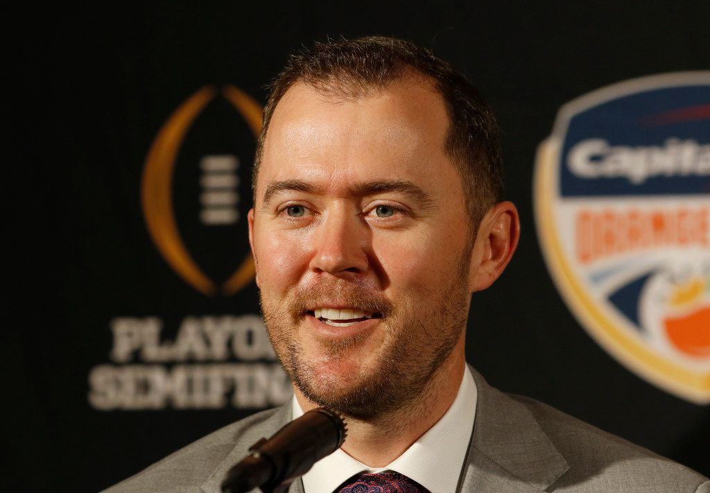 Oklahoma head coach Lincoln Riley speaks at an NCAA college football news conference in Fort Lauderdale, Fla., Friday, Dec. 28, 2018. Alabama plays Oklahoma in the Orange Bowl on Saturday, Dec. 29. (AP Photo/Joe Skipper)
