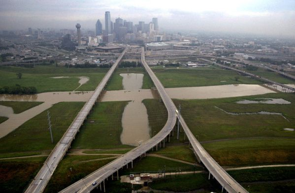 Dallas has been prone to flooding, as this file photo shows. Heavy rains from Wednesday, March 18, 2020, led to sewage overflows at some locations in Dallas.
