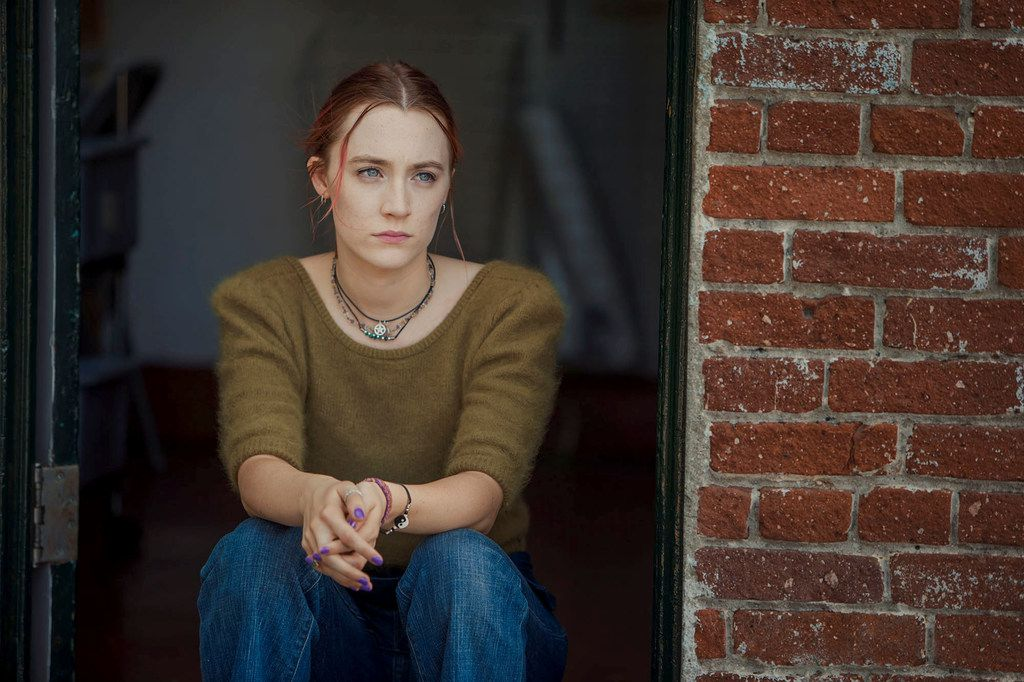 """Saoirse Ronan as a high school senior at odds with her home town in """"Lady Bird."""""""