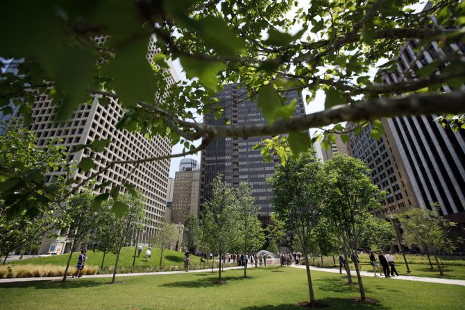 Belo Garden in downtown Dallas is now Civic Garden.