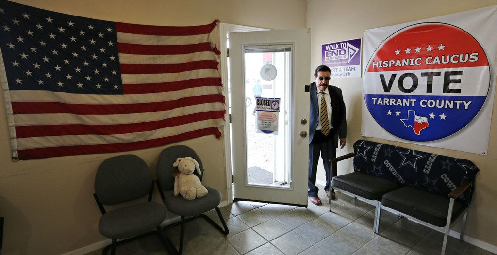 Lee Saldivar, at his office in Fort Worth, says there's been a spike in power-of-attorney requests since the November election.