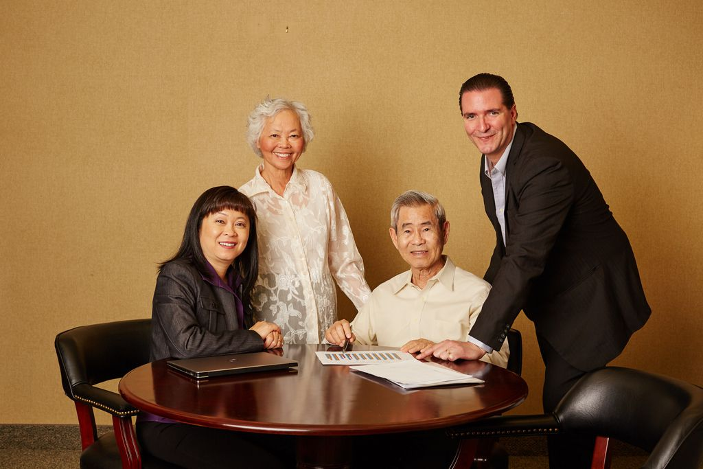 Theresa Motter (left), CEO of Van's Kitchen, with her mother and father, Kim and Van Nguyen, and her husband, Carl Motter.