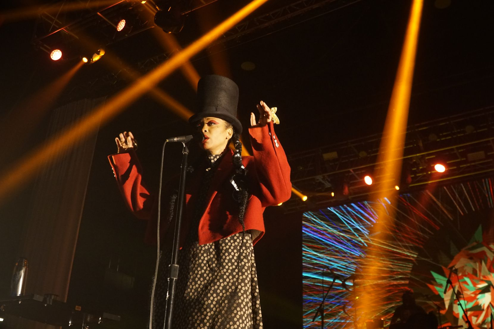 Erykah Badu performs at The Bomb Factory in Dallas on Feb. 22, 2020. Badu will perform at the Riverfront Jazz Festival on Sept. 3, 2021, in Dallas.