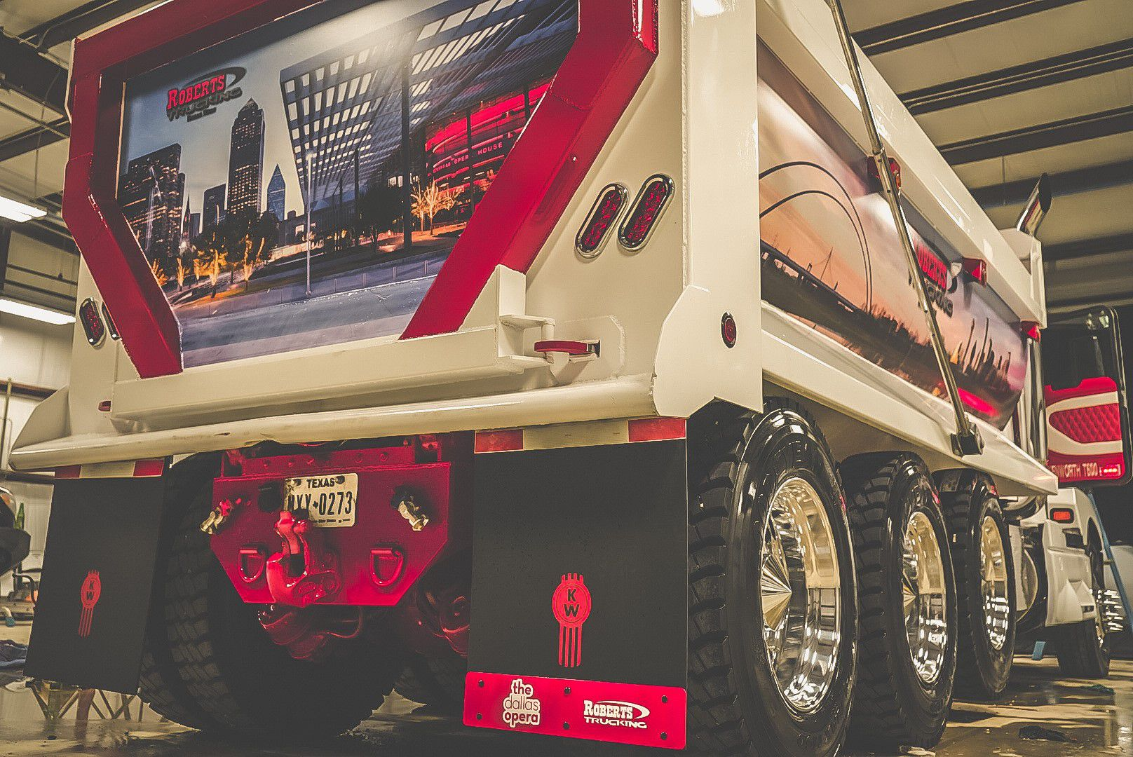 OperaTruck shows its support of the arts sporting a Dallas Opera logo on the rear flaps.