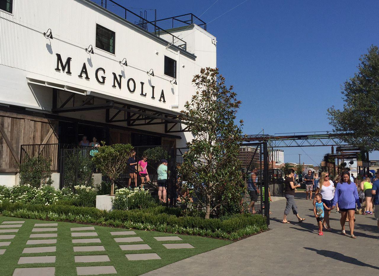 Entrance of Magnolia Market at the Silos in Waco.