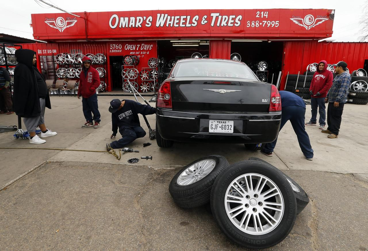 Besides Omar's Wheels & Tires, the store owner says he partners in nine shops around Dallas and plans to open two more soon.