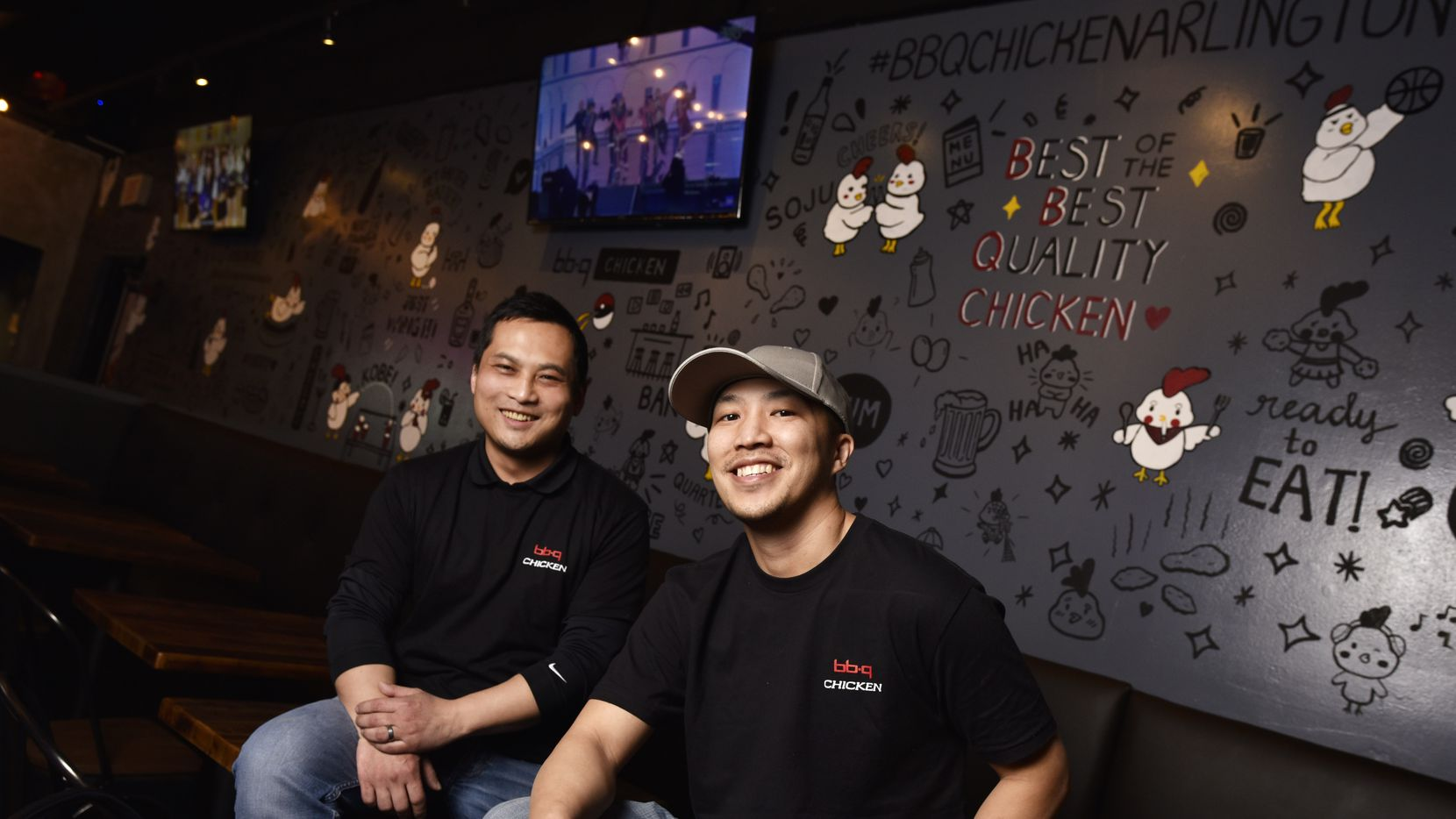 Co-owners Michael Pan, left, and Danny Doan, of BBQ Chicken in Arlington.