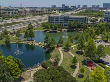 Hall Park started out more than 20 years ago and is the largest office campus in Frisco.