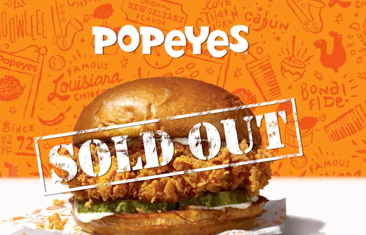 Popeyes: This is so stupid it just might work.