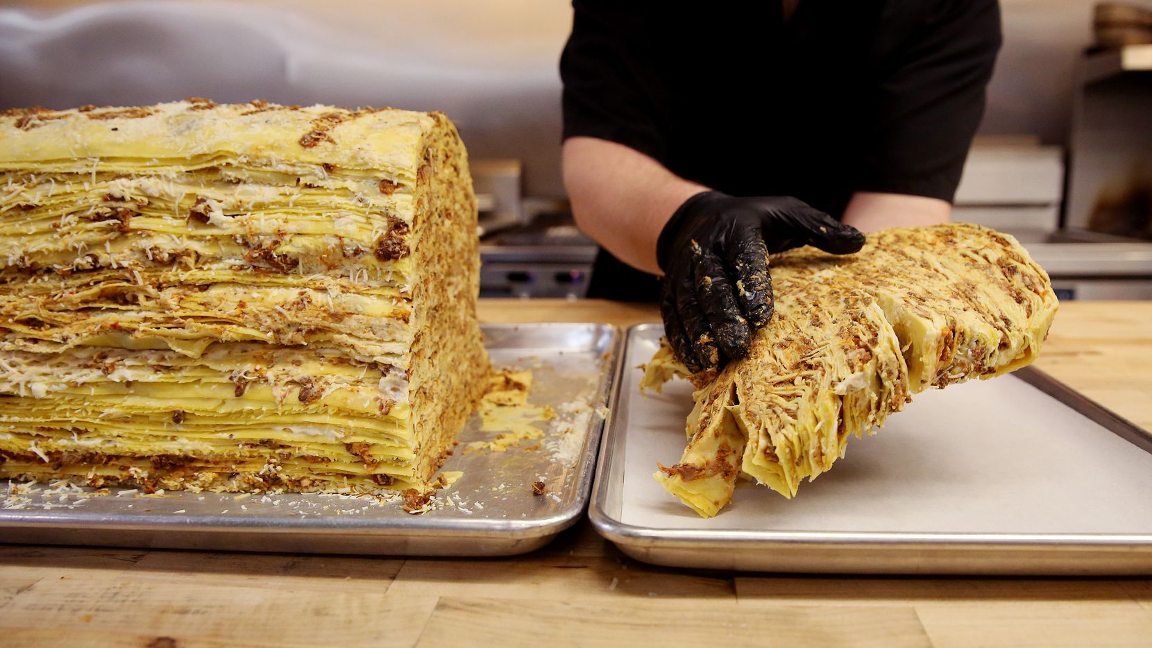 The 100 layer lasagna is on the menu at Fachini.