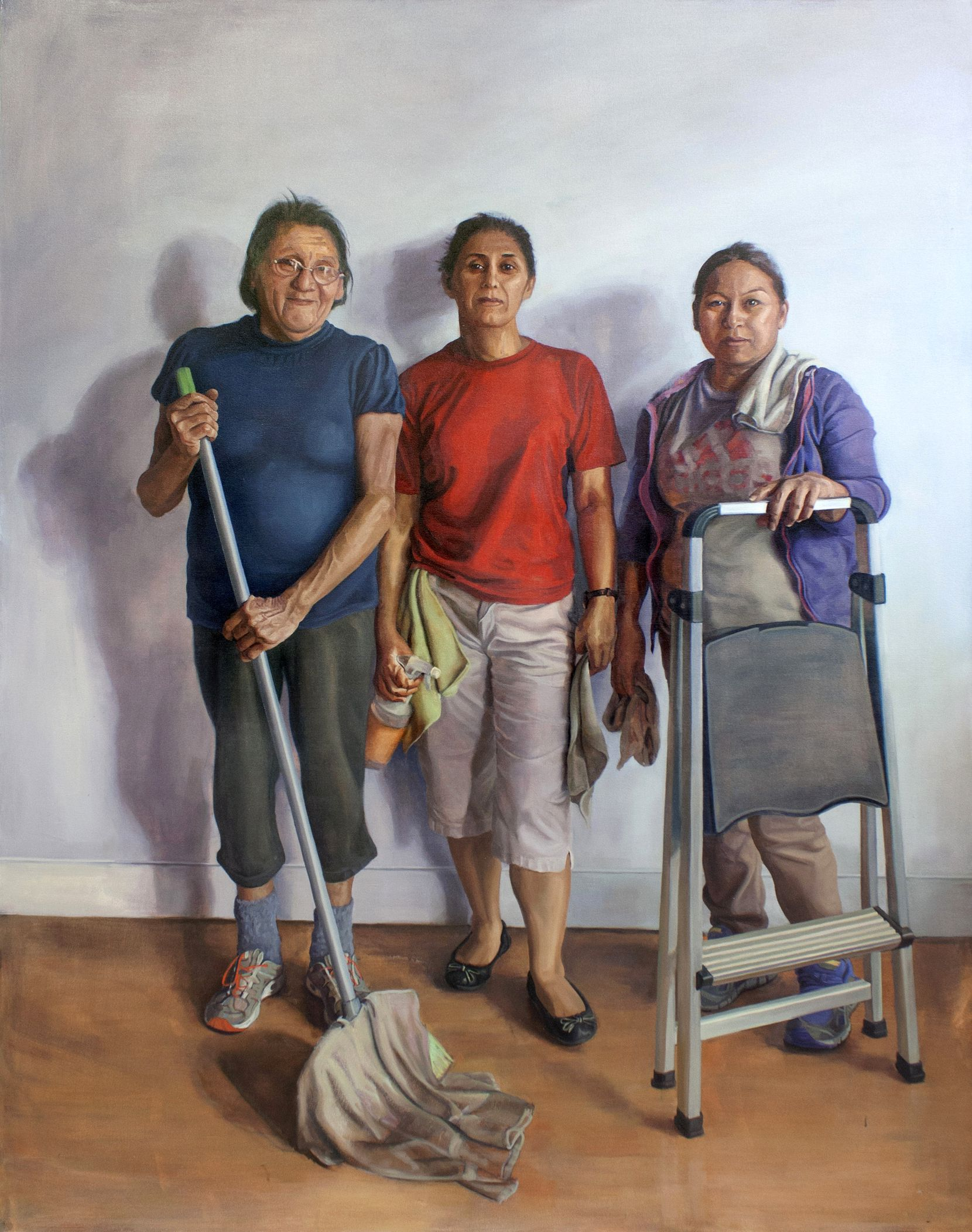 "Arely Morales, ""Una por Una (One by One),"" 2019; oil on canvas"