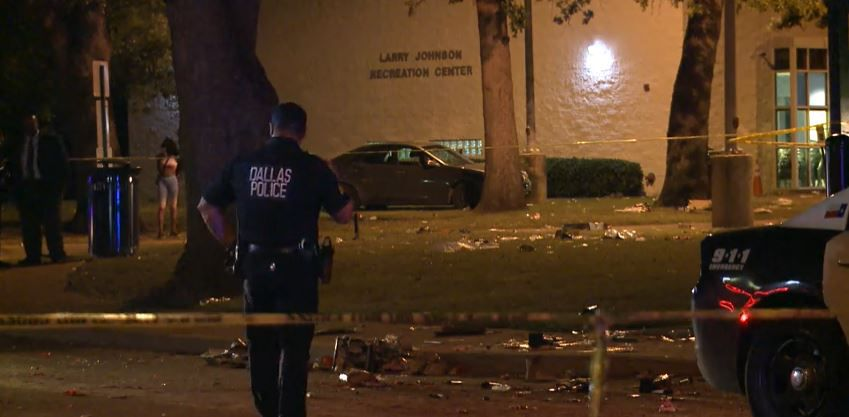 Several people were shot during a 4th of July gettogether near the Larry Johnson Recreation Center in Southeast Dallas.
