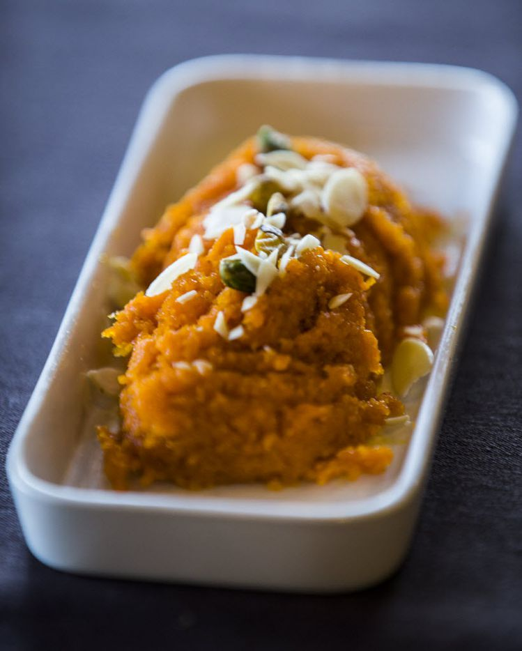 Gajar halwa, a dessert carrot pudding, at India Haat on Friday, June 17, 2016 in Addison, Texas.  (Ashley Landis/The Dallas Morning News)