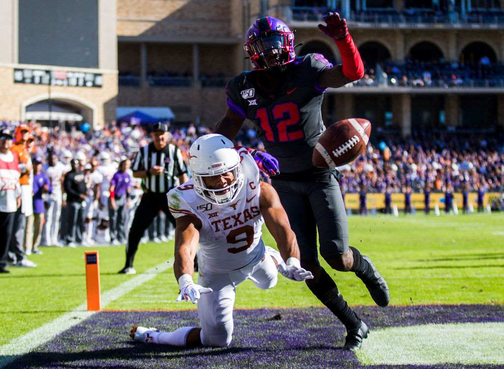 Jeff Gladney (12) was a mainstay at corner for four years for TCU, and now the Horned Frogs have to find his replacement. (Ashley Landis/The Dallas Morning News)