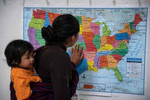 Una mujer guatemalteca en un refugio de El Paso. Dallas recibirá a inmigrantes que buscan asilo a partir de la próxima semana. GETTY IMAGES