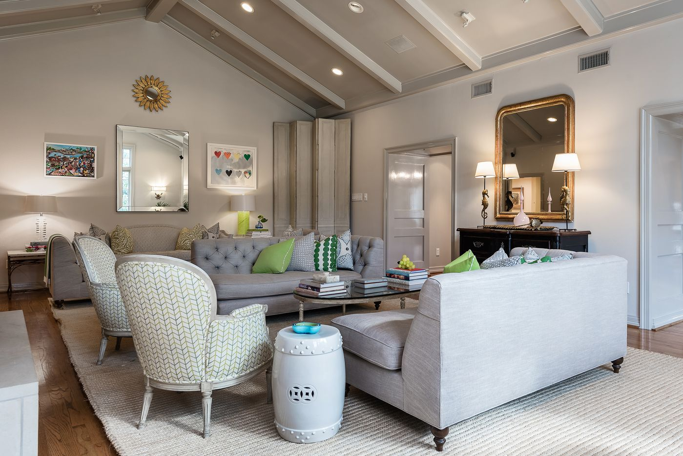 Living space at 5845 Lupton Drive.