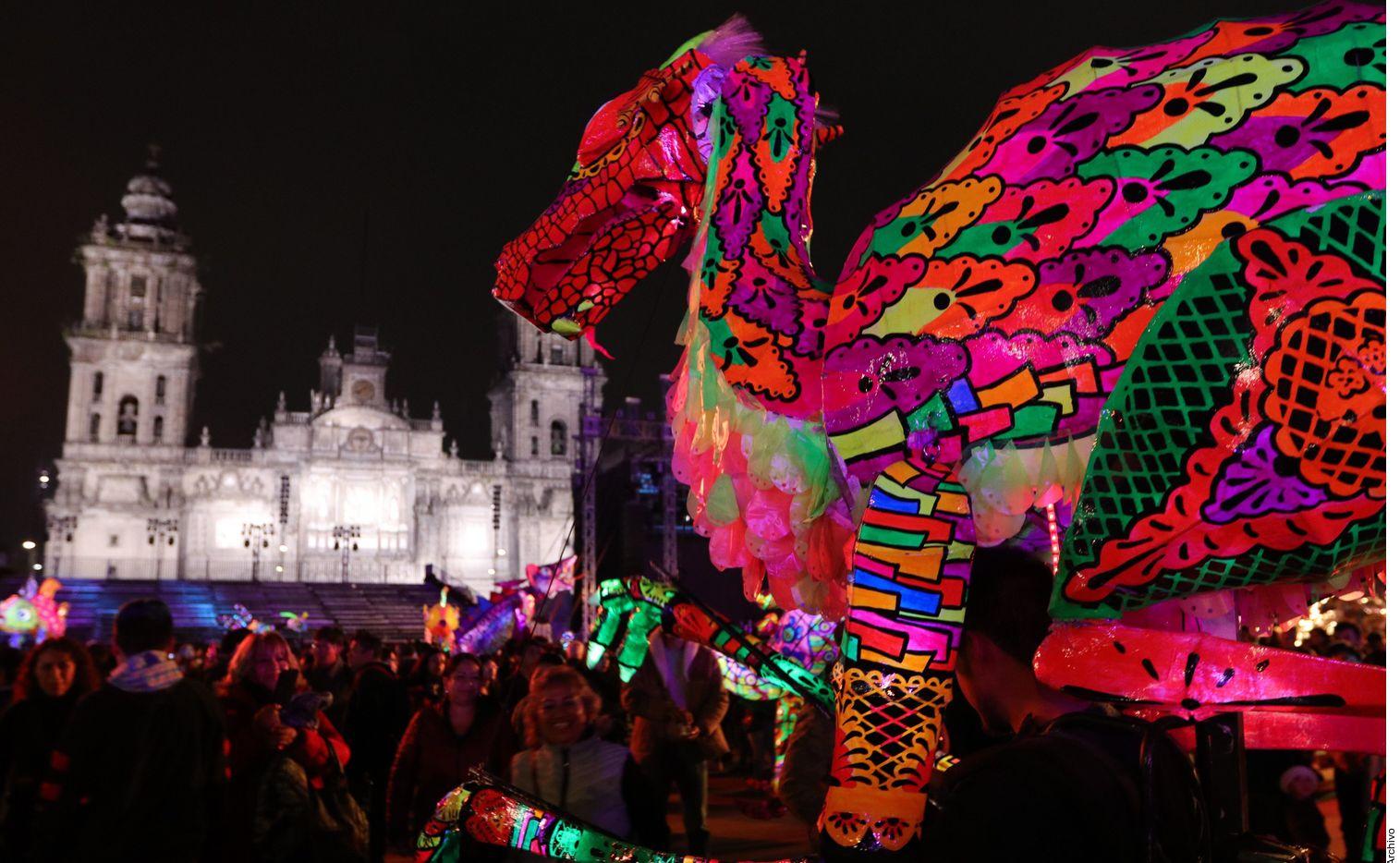 Desfile de Alebrijes en la Ciudad de México.