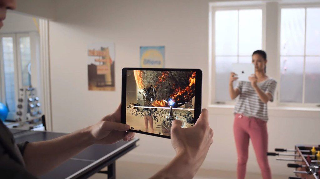 IOS 12 lets game developers use augmented reality so users can bring games into their living rooms (virtually, of course).