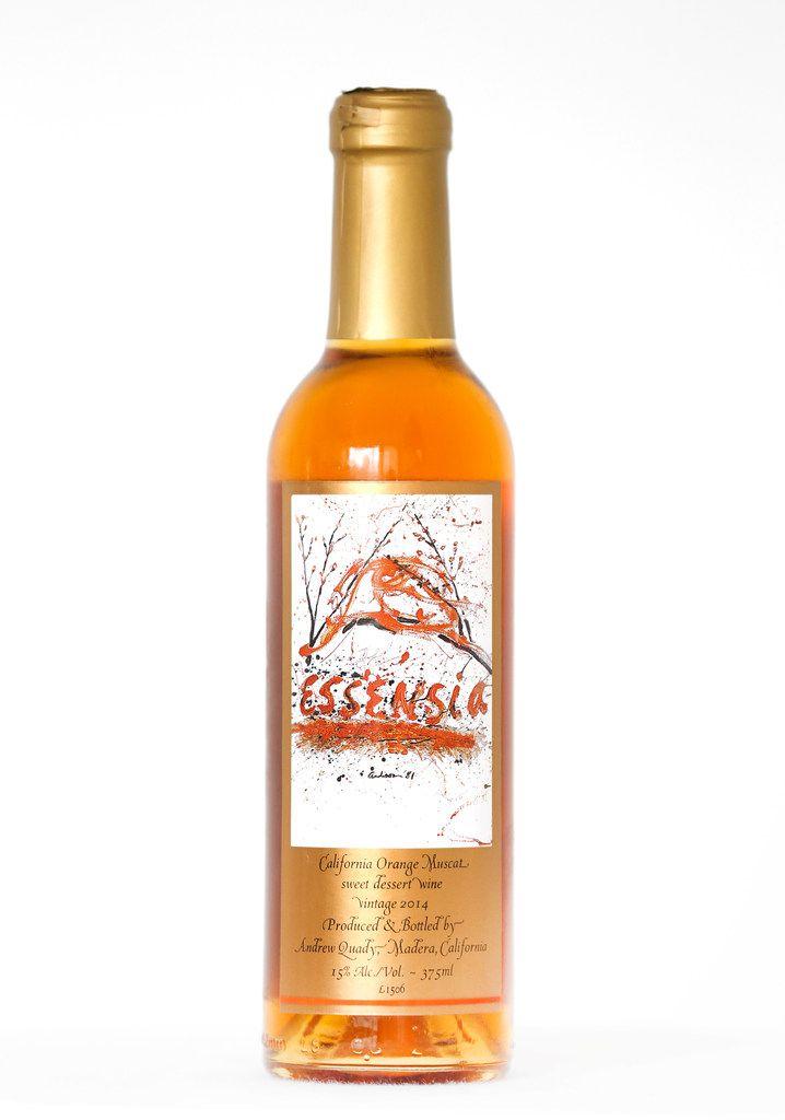 A 2014 Essensia California Orange Muscat sweet dessert wine