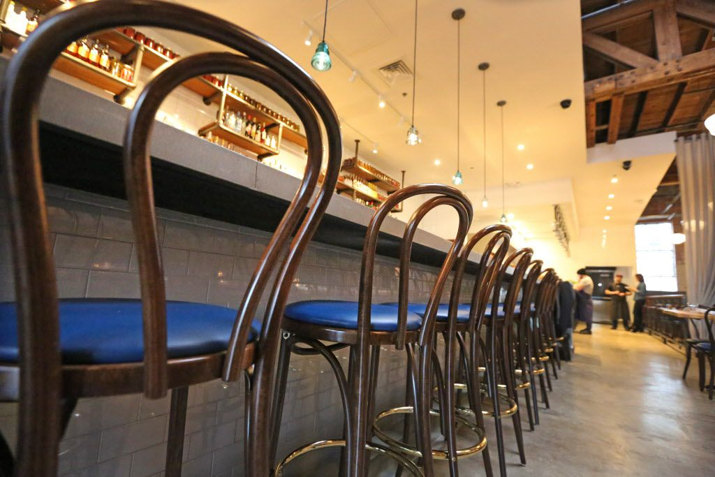 The bar seating at the new restaurant, Filament, at 2626 Main Street in Deep Ellum in Dallas, photographed on Tuesday, December 1, 2015. (Louis DeLuca/The Dallas Morning News)