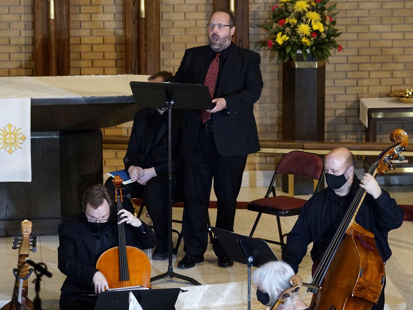"""Bass David Grogan portrays Lucifer in Handel's oratorio """"La resurrezione"""" with the Dallas Bach Society at Zion Lutheran Church."""