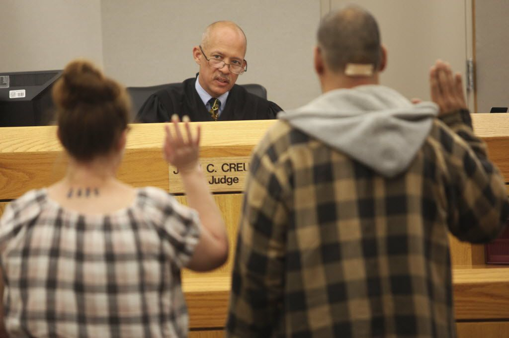 Former State District Judge Judge John Creuzot, pictured in his old courtroom at the Frank Crowley Courts Building in 2012, has announced he will run for Dallas County district attorney next year. Mona Reeder/The Dallas Morning News)
