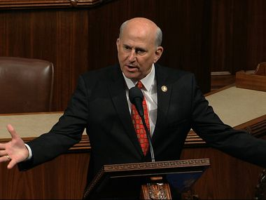 Rep. Louie Gohmert, R-Texas, speaks during the House of Representatives debate on impeachment of President Donald Trump on Dec. 18, 2019.