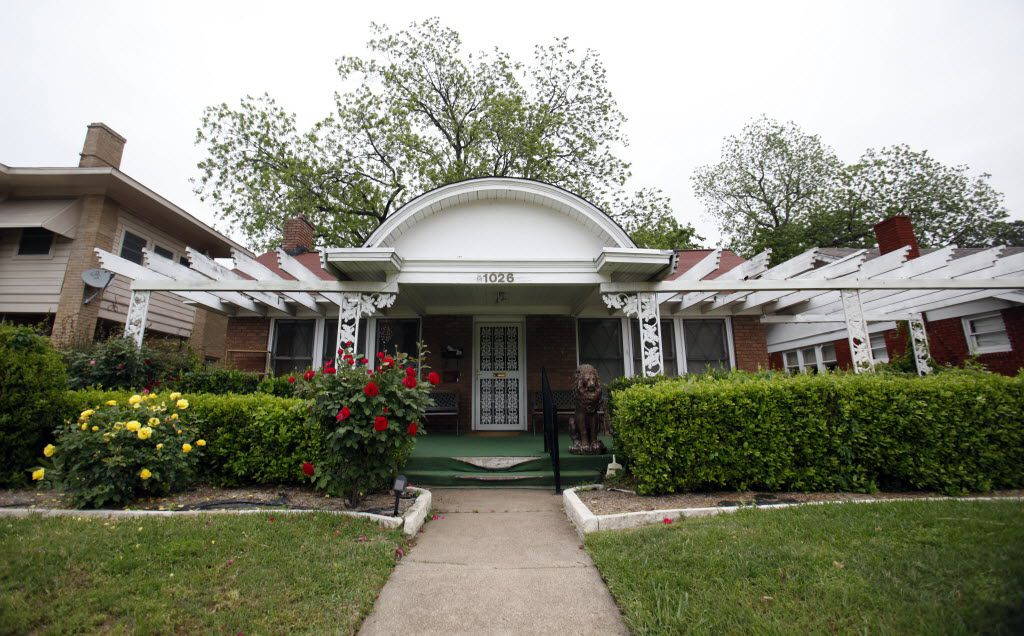 The house on North Beckley Avenue in Dallas, where Lee Harvey Oswald was living on the day of the assassination of President John F. Kennedy, on May 2, 2013.