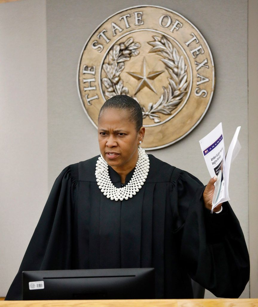 Judge Tammy Kemp was visibly upset after she learned Dallas County District Attorney John Creuzot gave an interview about Amber Guyger's trial.