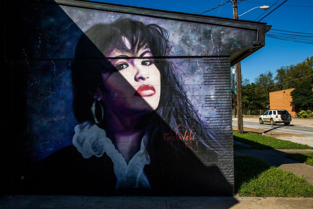 A mural of singer Selena is displayed at 914 W. Commerce St. in Dallas.