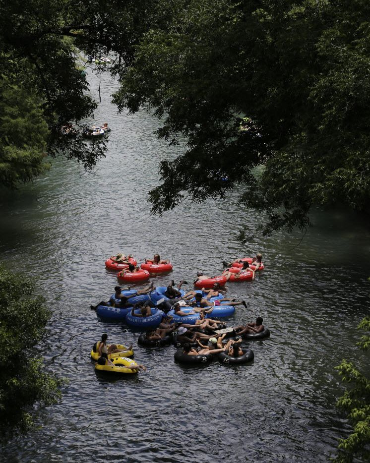 Tubers float on the Comal River July 1, 2015, in New Braunfels.