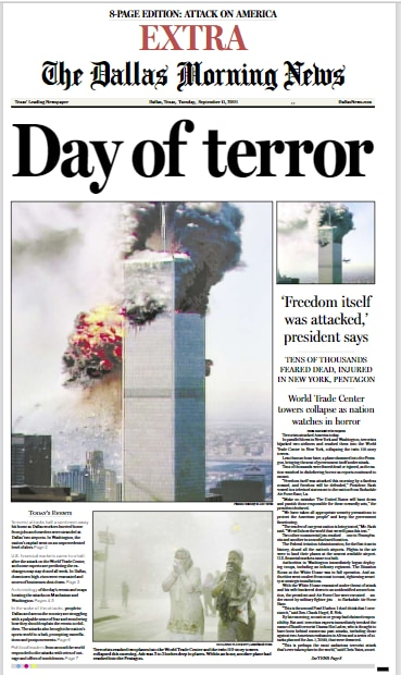 An extra edition published on the day of the attack.