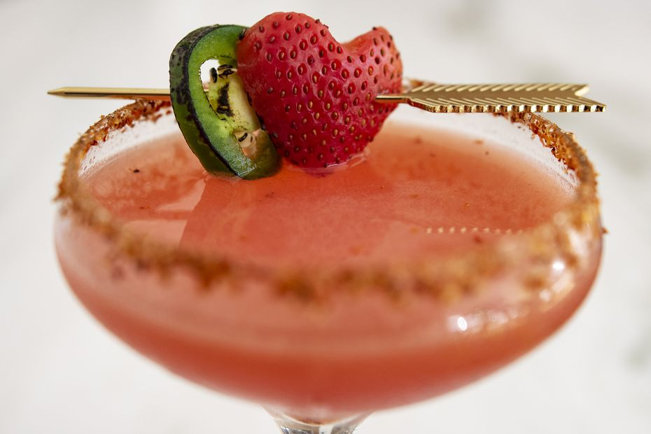 Strawberry Jalapeño Margarita from True Kitchen + Kocktails