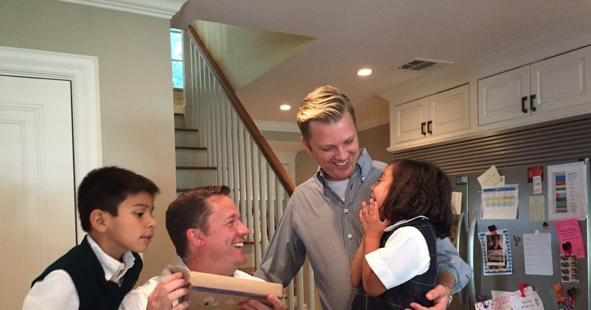 Left to right: Mason Koch, Todd Koch, Cooper Koch and Claire Koch. As more same-sex couples get married, they're facing the sky-high costs of starting a family through adoption. (Nina Koch)