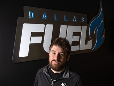 """Dallas Fuel general manager Mat """"TazMo"""" Taylor at the Dallas Fuel headquarters in Dallas, on Monday, Sept. 13, 2021."""