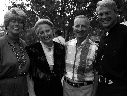 From left: Grace McArtor, Margot Perot, Ross Perot and Allan McArtor are shown at the 1994 Cattle Baron's Ball.