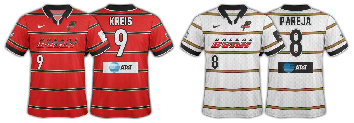 1998 and 1999 Dallas Burn jerseys