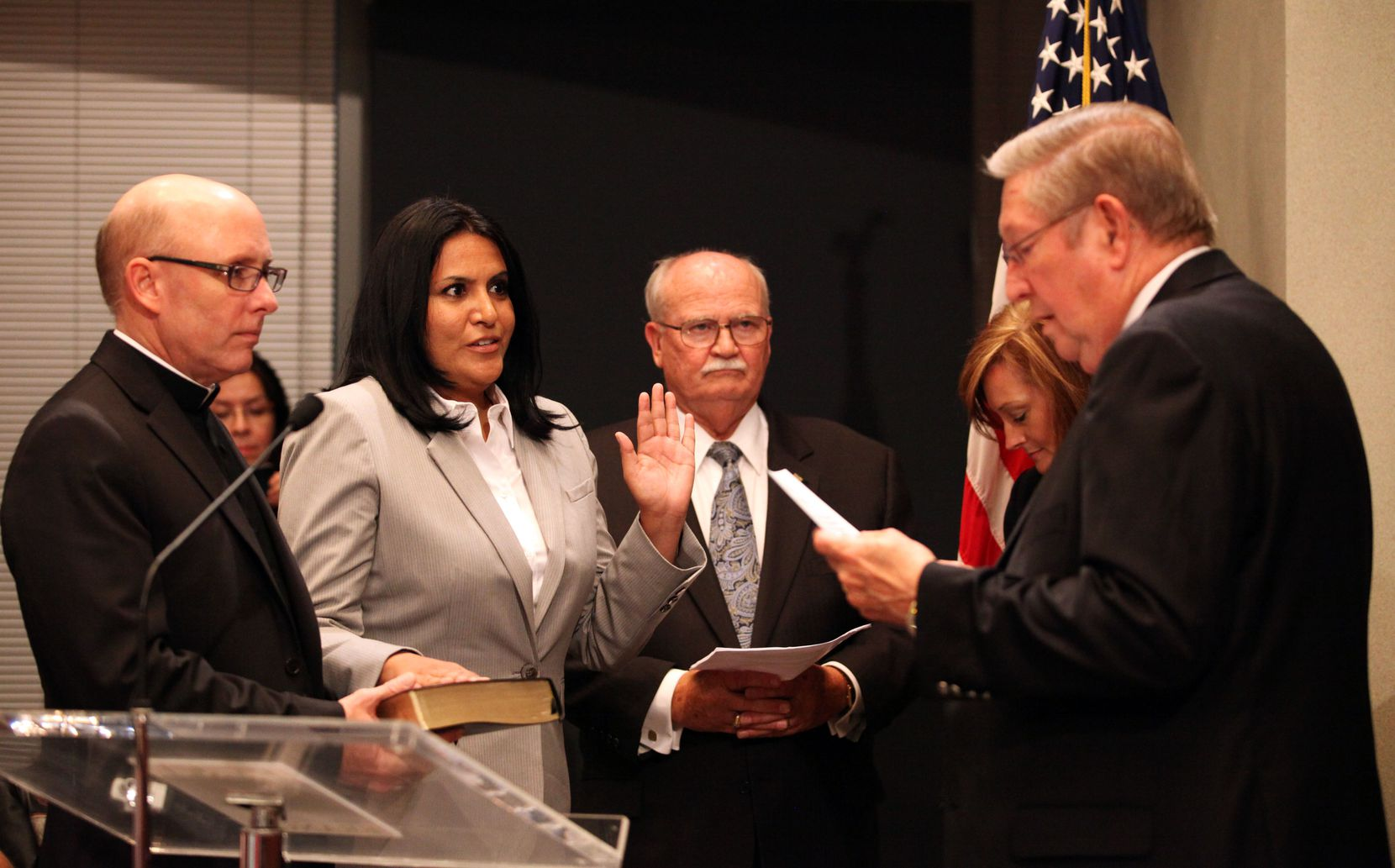 Ana Reyes was sworn in as Farmers Branch's first Hispanic council member in 2013.
