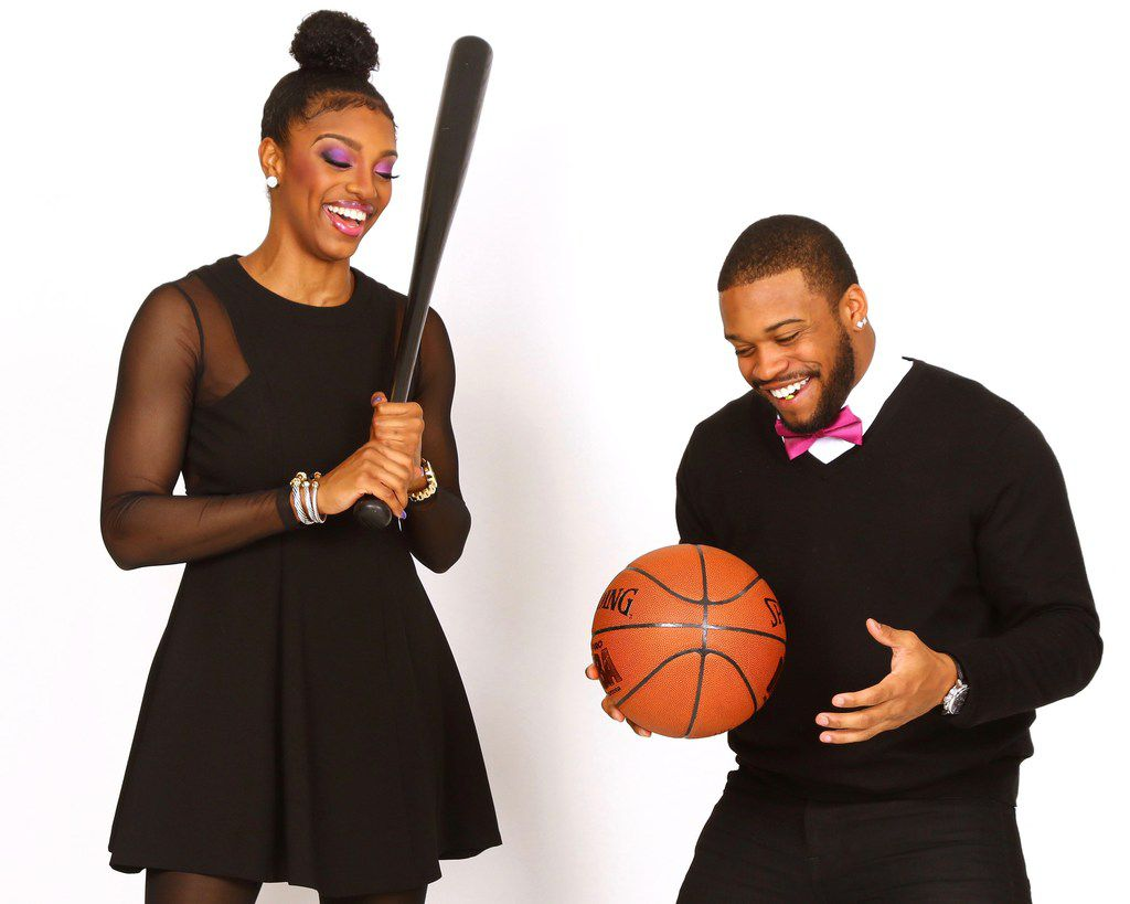 Texas Rangers centerfielder Delino DeShields and sister Diamond DeShields Jr., who is a professional basketball player for the Chicago Sky (Brian Christian Photography/Courtesy of Tisha DeShields)