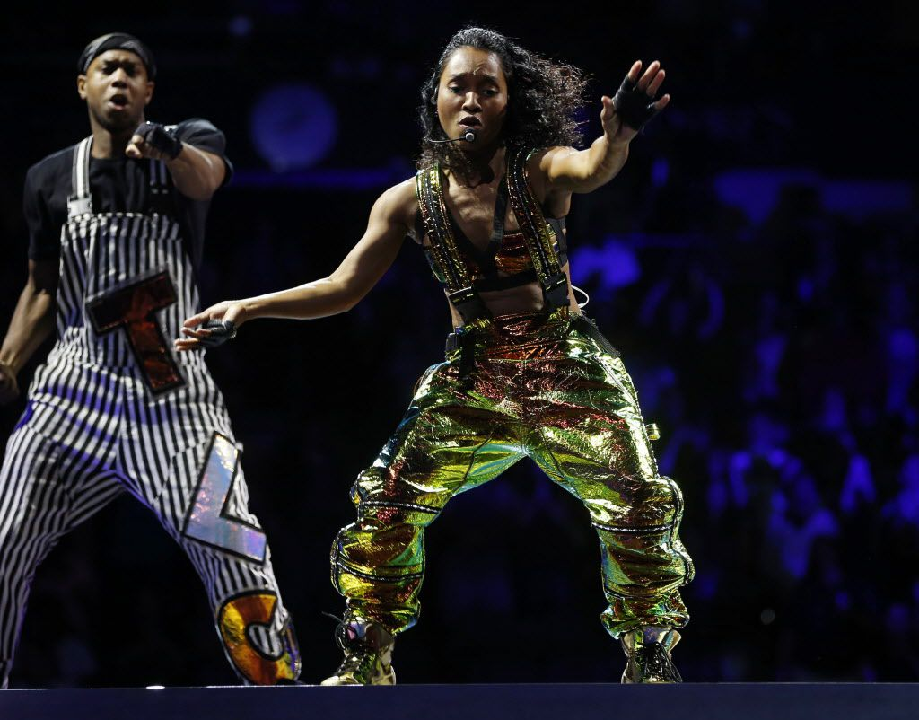 Chilli of TLC during a performance at American Airlines Center in Dallas, on Thursday, May 14, 2015.