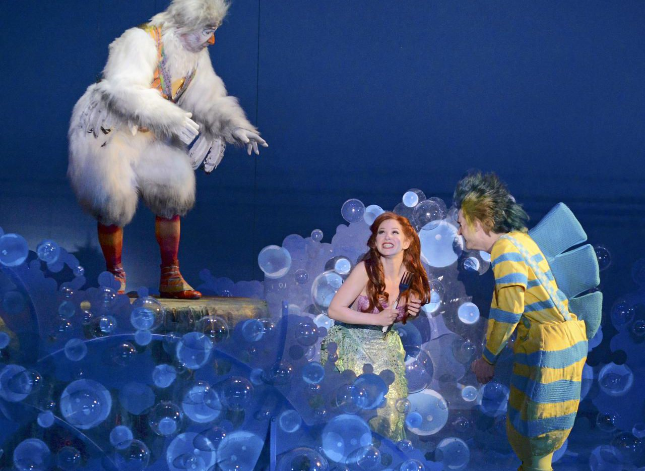 Dallas Summer Musicals' production of The Little Mermaid — with Jamie Torcellini as Scuttle, Alison Woods as Ariel and Adam Garst as Flounder — was part of what Michael Jenkins called a very robust season for the company.