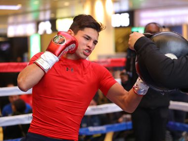 Ryan García ha entrenado fuerte para su pelea contra el británico Luke Campbell que se efectuara el 2 de enero en el America Airlines Center de Dallas