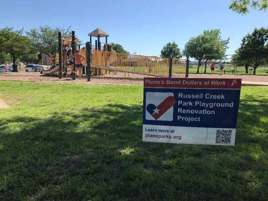 Renovations are getting underway at Russell Creek Park in Plano.