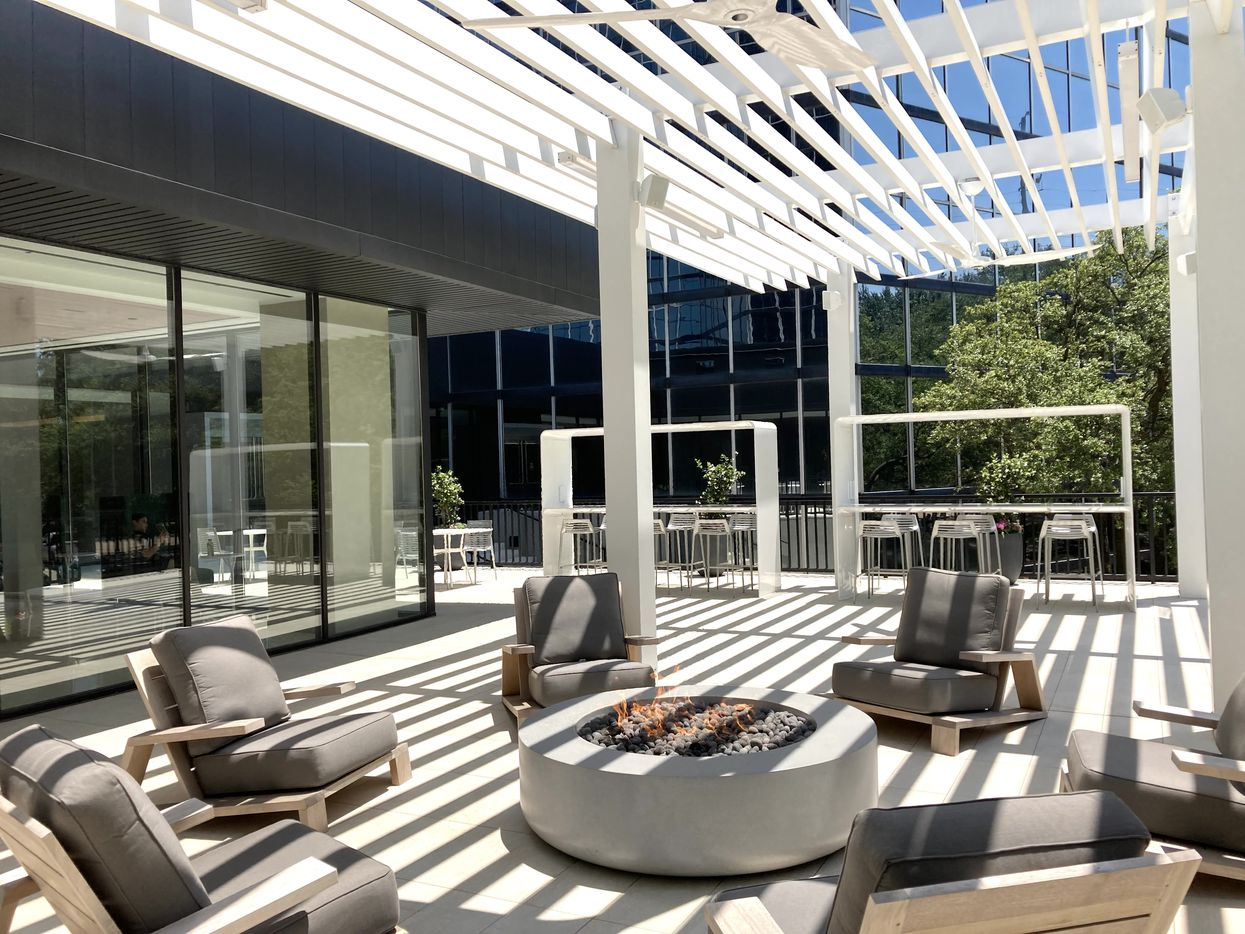 A new outdoor terrace lounge at Lincoln Centre.